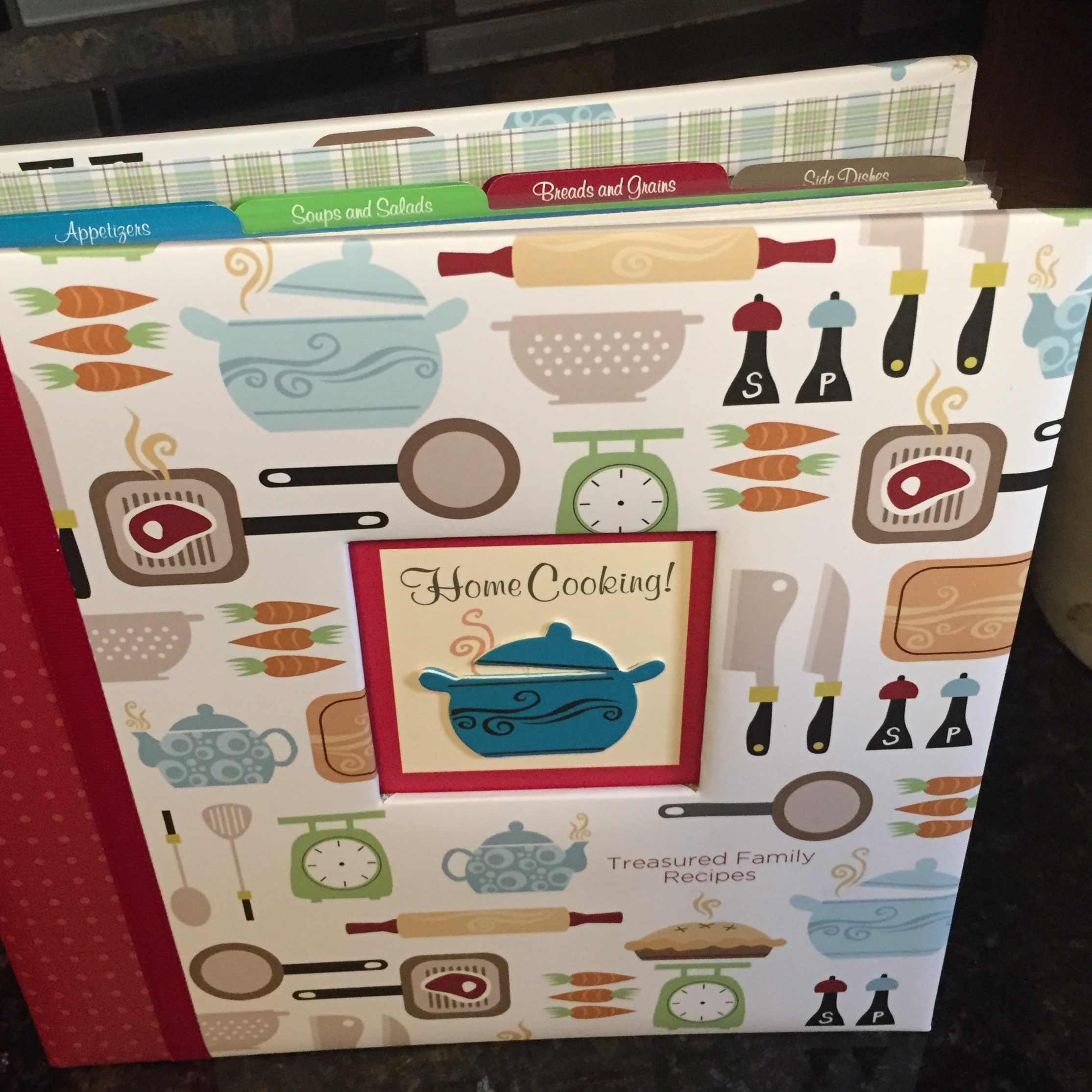 This binder holds all of those recipes inherited from your family and friends, assuring that those treasured dishes will be made long after you're gone.